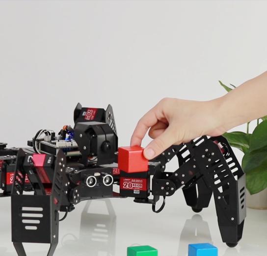 新品丨AI智能视觉系列--SpiderPi 智能视觉六足机器人震撼首发!